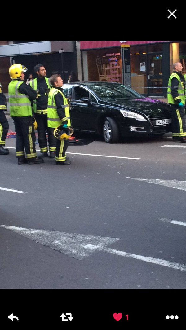 Clerkenwell crash: Cyclist fighting for life 'after crashing with Uber minicab'.